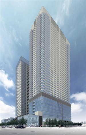 西新宿五丁目北地区の完成予想図