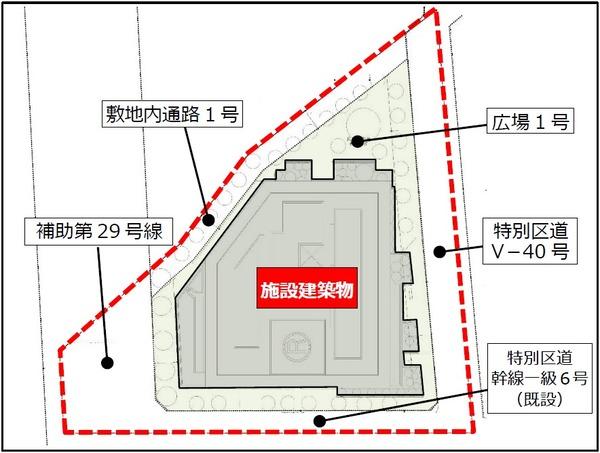 戸越五丁目19番地区第一種市街地再開発事業 配置図