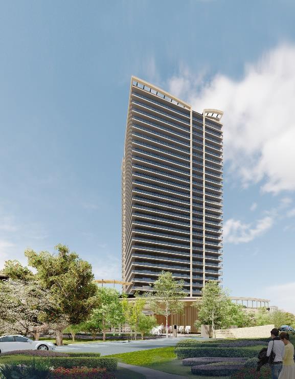 (仮称)パークウェルステイト幕張計画 タワー棟外観完成イメージ