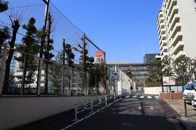 渋谷区総合庁舎と神南小学校