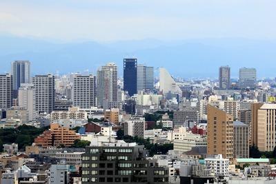 文京シビックセンターから見た東中野方面