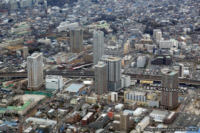 武蔵浦和駅周辺の空撮