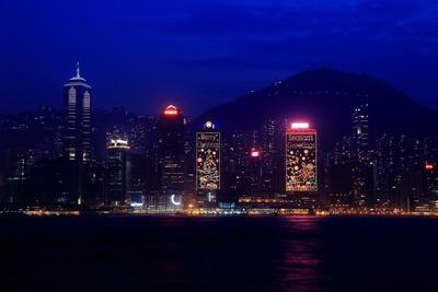 香港のクリスマスイルミネーション
