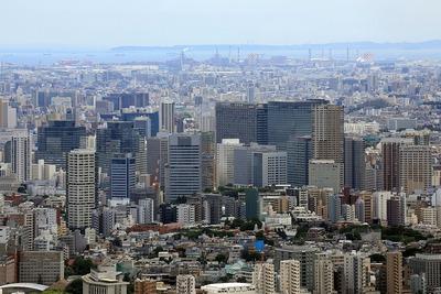 六本木ヒルズから見た大崎方面の超高層ビル群