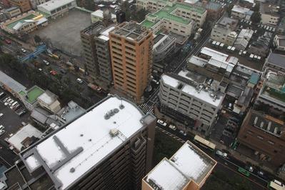 船堀駅前トキタワーから見た雪景色