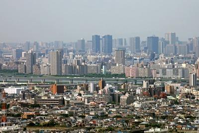 アイ・リンクタウンいちかわの無料展望室から見た東大島方面