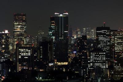 世界貿易センターから「アークヒルズ 仙石山森タワー」の夜景
