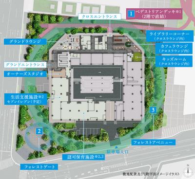 プライムパークス品川シーサイド ザ・タワー 敷地配置図