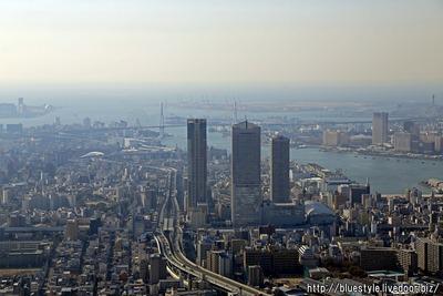 大阪万博の会場となる夢洲方面の空撮