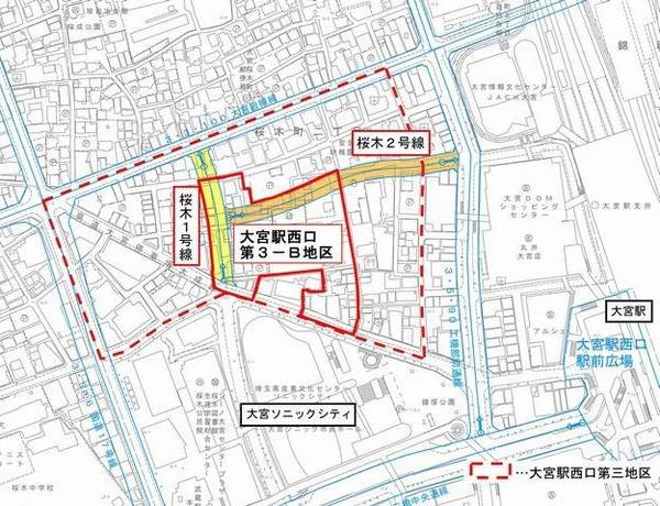 大宮サクラスクエア 施工区域図