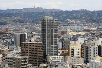静岡県庁舎から見たウィスティリア伝馬町 タワーレジデンス