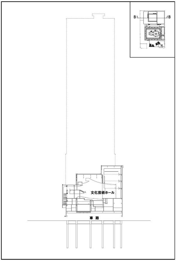 浜松町二丁目地区第一種市街地再開発事業 断面図