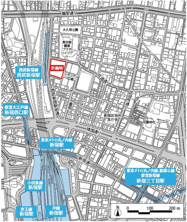 (仮称)歌舞伎町一丁目地区開発計画 位置図