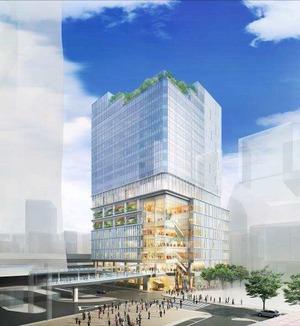 道玄坂一丁目駅前地区第一種市街地再開発事業の完成予想図