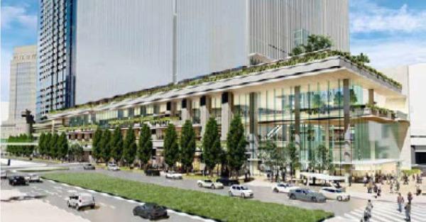 日本橋一丁目東地区第一種市街地再開発事業 昭和通り沿いの低層イメージ