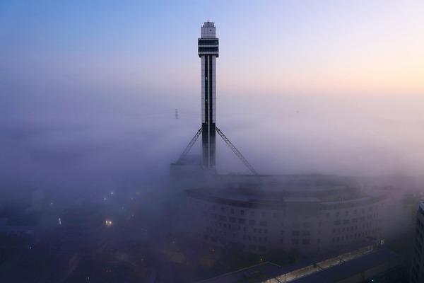 雲海とタワーホール船堀