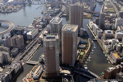 クラッシィハウス芝浦と芝浦の空撮