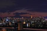 夕景富士山