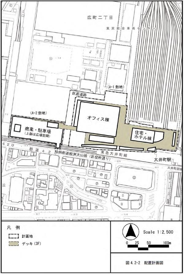 大井町駅周辺広町地区開発 配置計画図