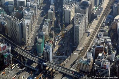 渋谷駅南街区プロジェクトの空撮