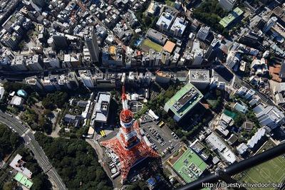 東京タワーの空撮