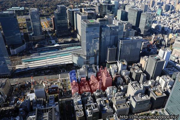 東京駅前八重洲一丁目東B地区第一種市街地再開発事業 建設地の空撮