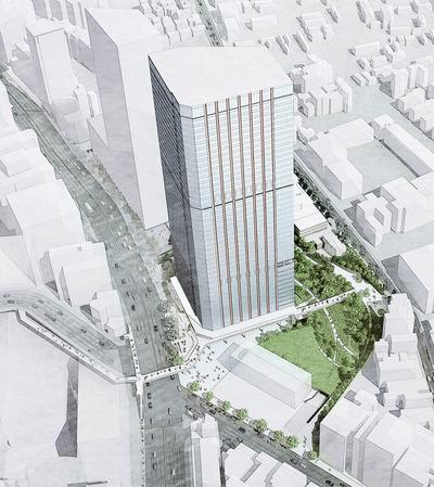 三田三・四丁目地区再開発 完成予想図