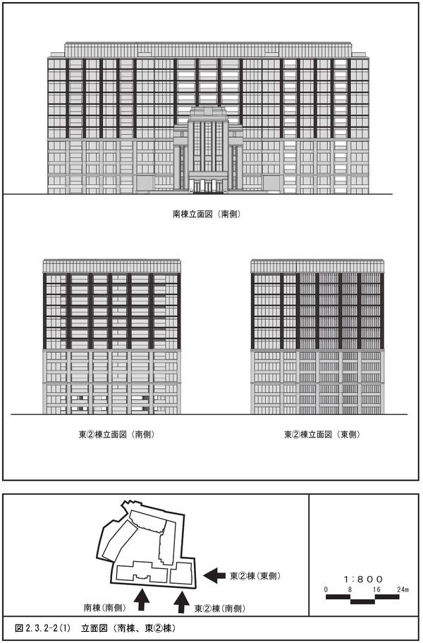 (仮称)三田一丁目計画 立面図