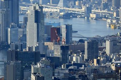 東京スカイツリーから見たパークシティ中央湊 ザ タワー