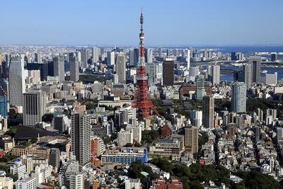 六本木ヒルズから見た東京タワー方面