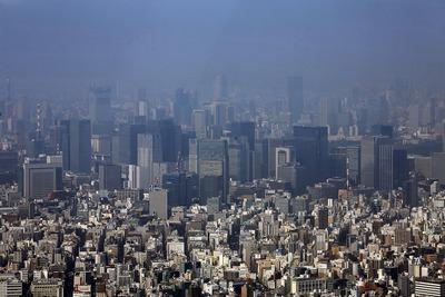 東京スカイツリー 天望回廊から東京都心方面の眺め