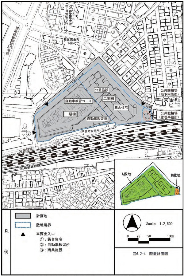 東金町一丁目西地区市街地再開発事業 配置計画図