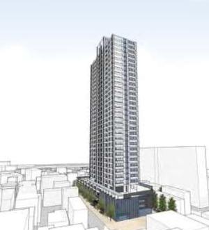 千住一丁目地区第一種市街地再開発事業 完成予想図