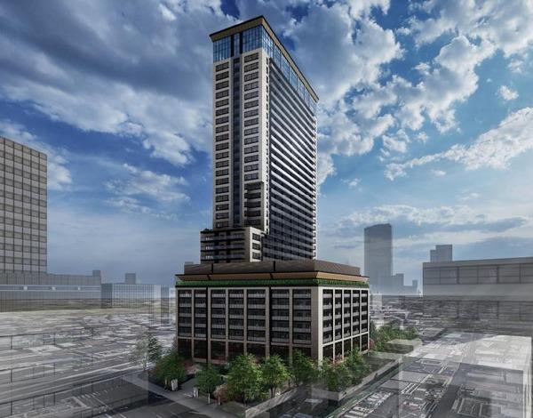 (仮称)パークウェルステイト西麻布計画 建物全体完成予想イメージ