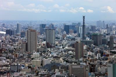 東京都庁から飯田橋方面の眺め