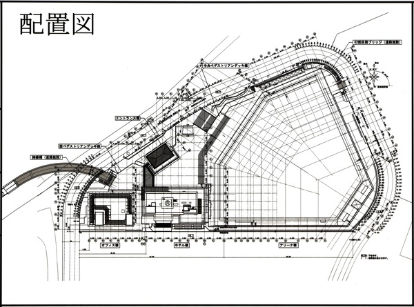 Kアリーナプロジェクト 都市景観形成行為のお知らせ 配置図