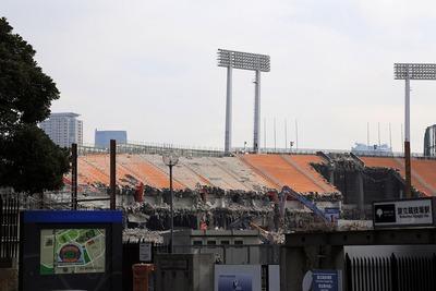 国立競技場の解体工事