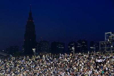 国立競技場からの夜景