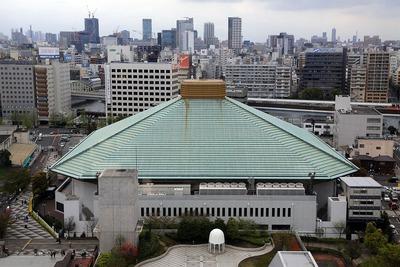 江戸東京博物館から見た両国国技館