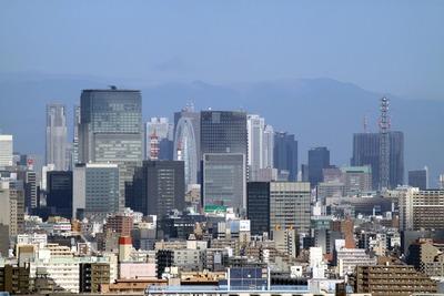 自宅マンションから見た新宿・日本橋方面