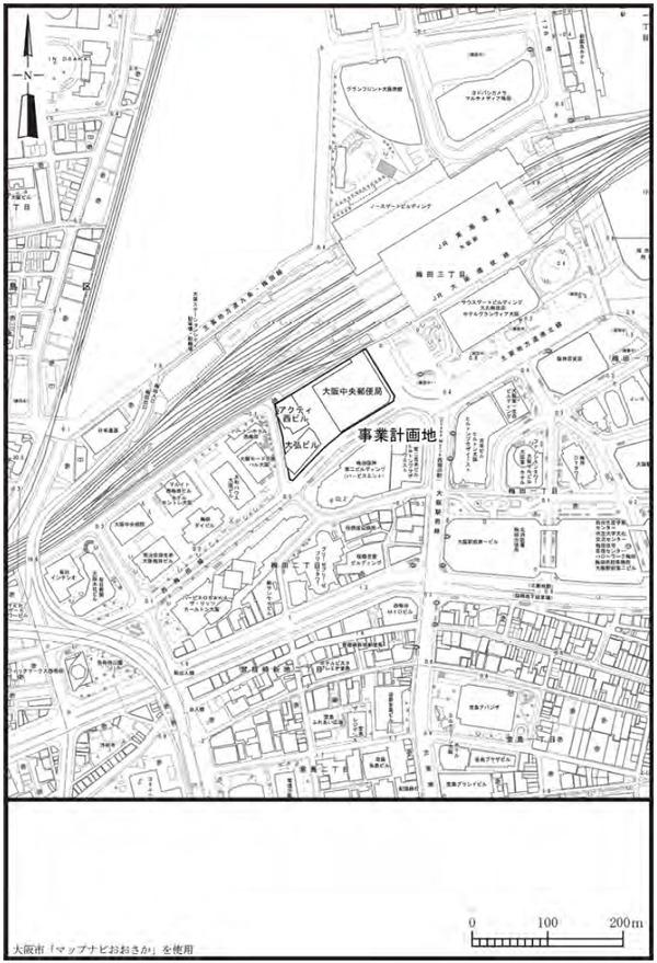 梅田3丁目計画(仮称) 位置図