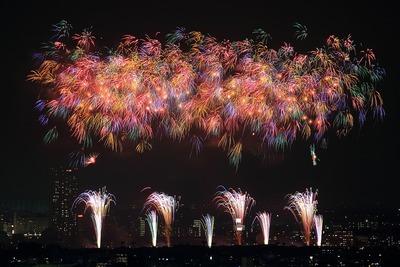 第38回江戸川区花火大会・第29回 市川市民納涼花火大会