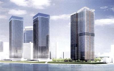 (仮称)中央区晴海二丁目計画の完成予想図