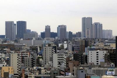 江戸東京博物館から望む豊洲方面