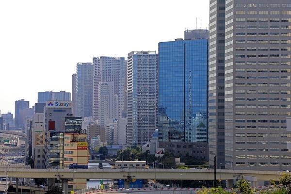 東京ポートシティ竹芝オフィスタワー スキップテラスからの眺め