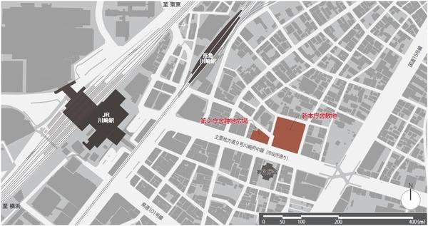 川崎市新本庁舎整備事業 案内図