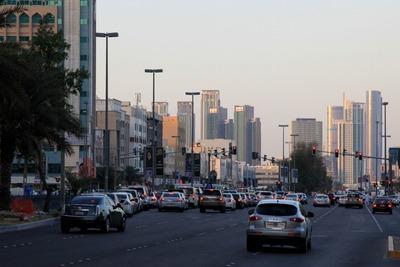 アブダビの超高層ビル群
