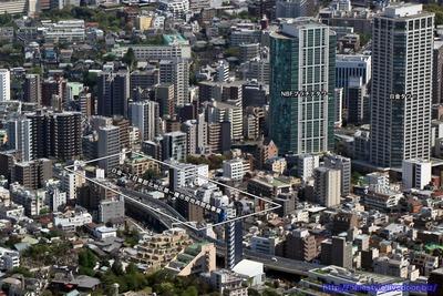白金一丁目東部北地区第一種市街地再開発事業の計画地の空撮
