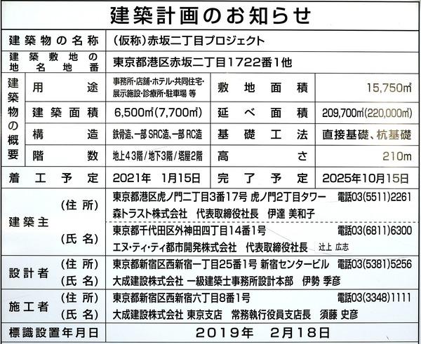 (仮称)赤坂二丁目プロジェクト 建築計画のお知らせ