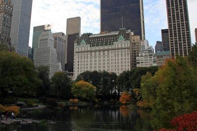 ニューヨークのセントラルパークとプラザホテル
